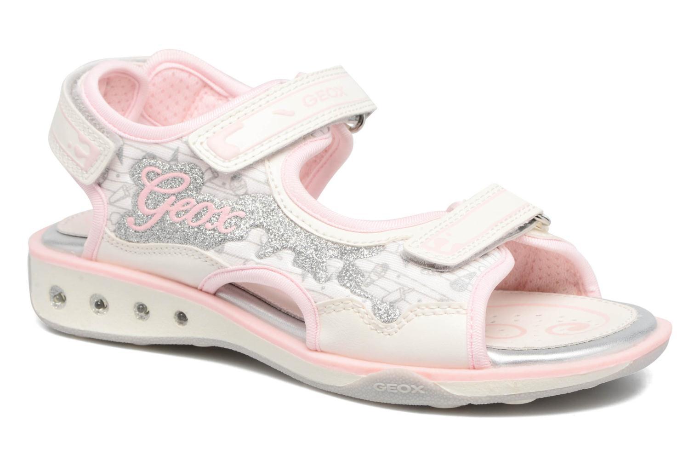 Sandales et nu-pieds Geox JR SANDAL JOCKER A Blanc vue détail/paire