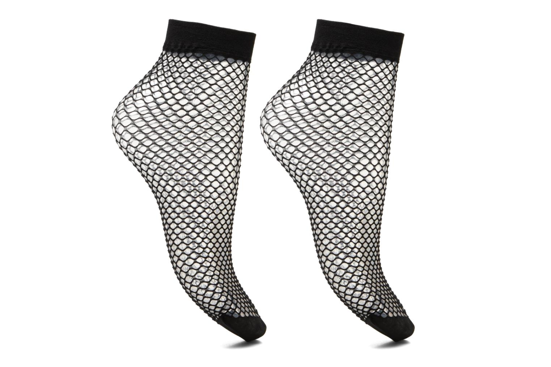 Lot de 2 chaussettes Résilles Femme Noir