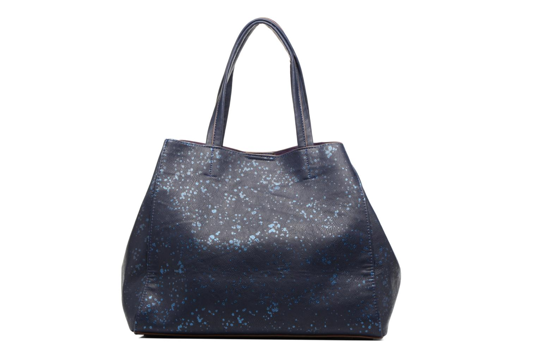 Sacs à main Desigual Cuenca Metal Splatter Shopping bag Bleu vue face