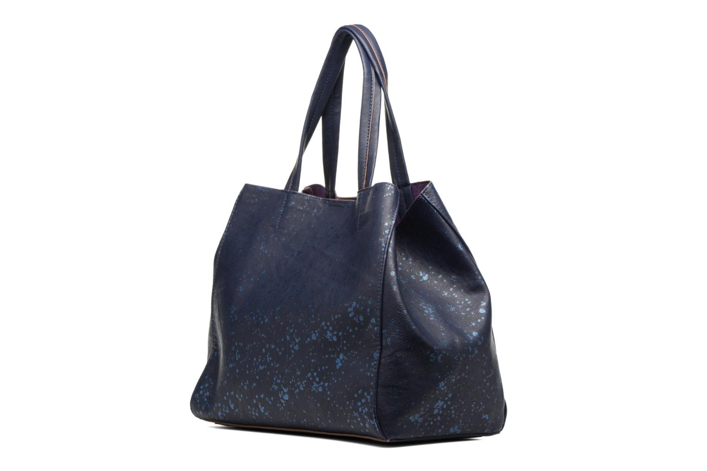 Sacs à main Desigual Cuenca Metal Splatter Shopping bag Bleu vue droite