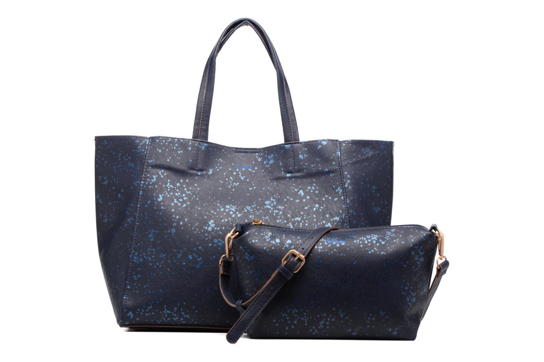Sacs à main Desigual Cuenca Metal Splatter Shopping bag Bleu vue gauche