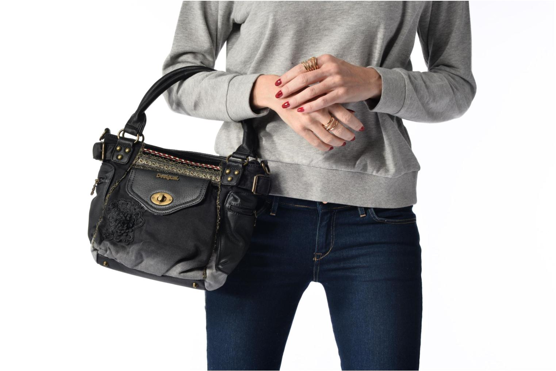 Sacs à main Desigual Mcbee Mini Blackout Handbag Noir vue haut