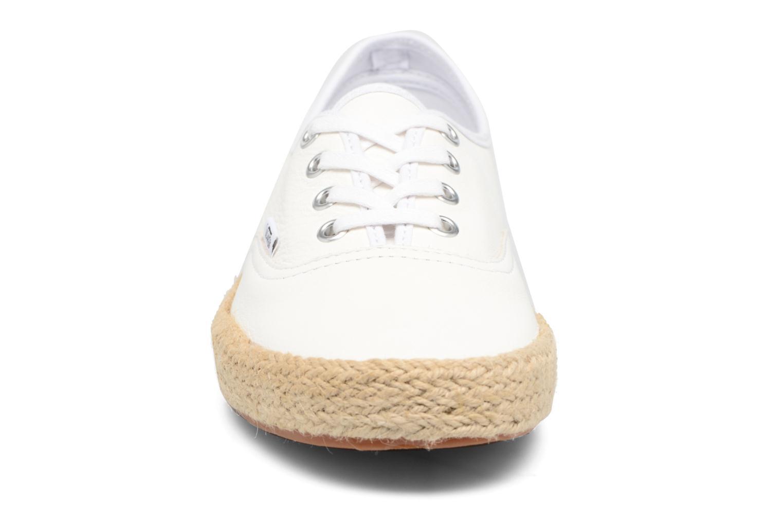 Baskets Vans Authentic Espadri Blanc vue portées chaussures