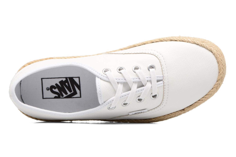 Baskets Vans Authentic Espadri Blanc vue gauche