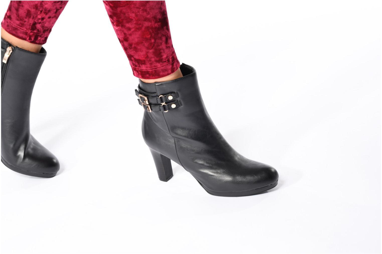 Bottines et boots Divine Factory Setna Noir vue bas / vue portée sac