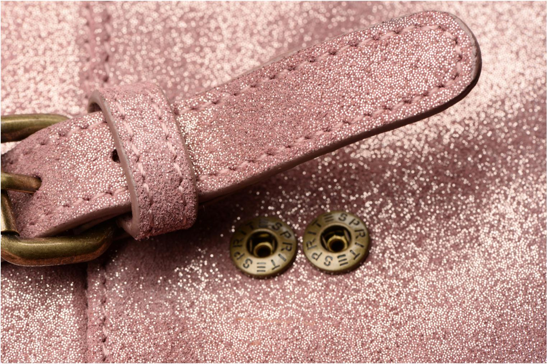 Petite Maroquinerie Esprit Venus Leather Wallet Rose vue gauche