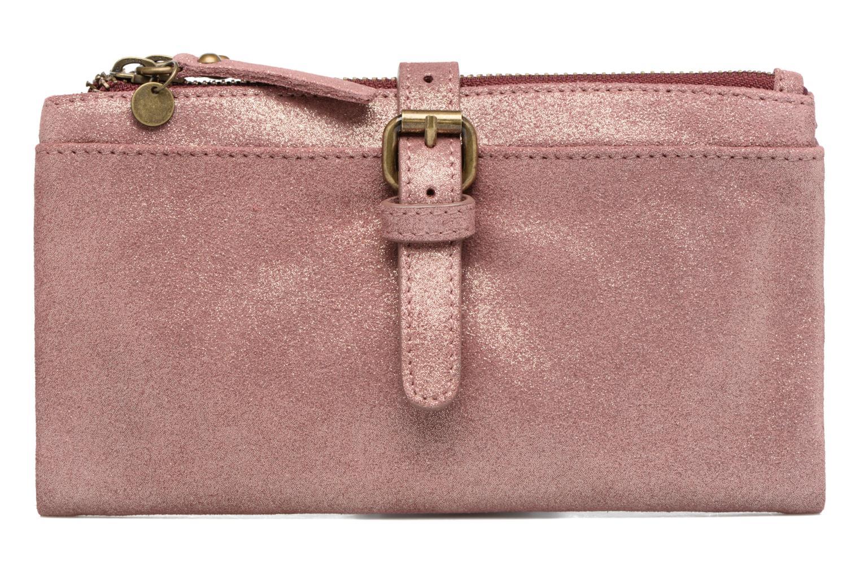 Petite Maroquinerie Esprit Venus Leather Wallet Rose vue détail/paire