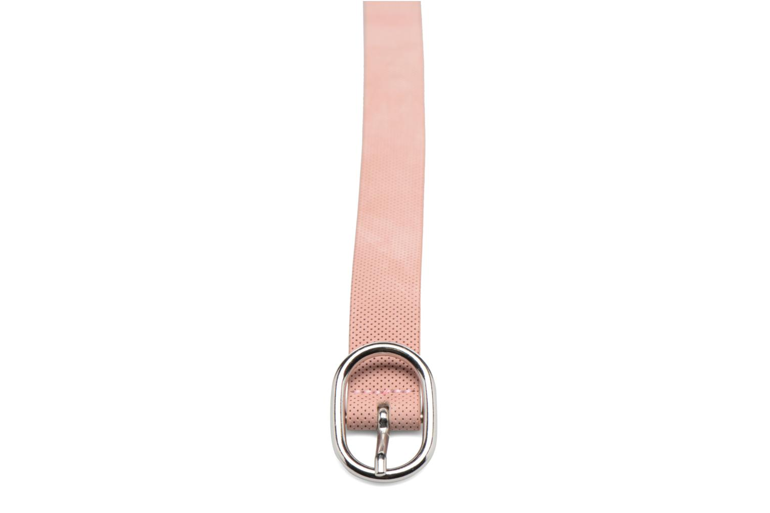 Perforated Leather Belt 25mm Salmon