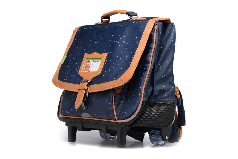 School bags Tann's Cartable 38cm Trolley Galaxy Blue model view