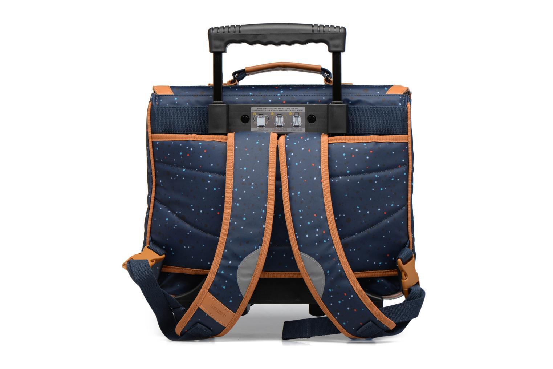 School bags Tann's Cartable 38cm Trolley Galaxy Blue front view