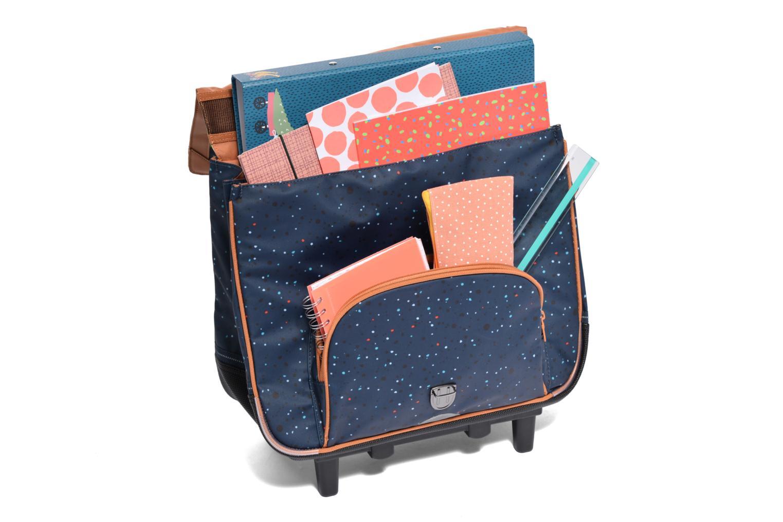 School bags Tann's Cartable 38cm Trolley Galaxy Blue back view