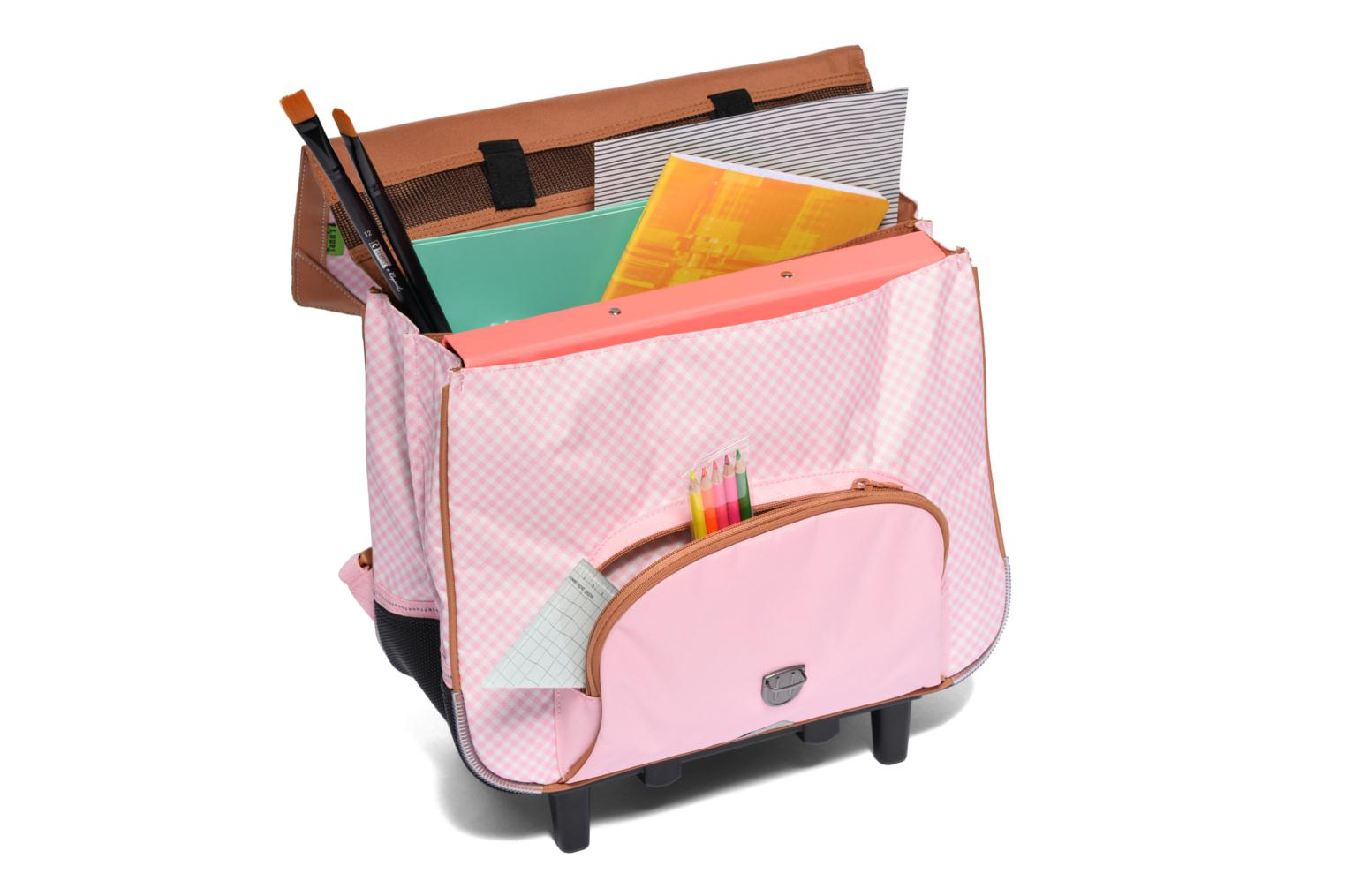 Cartable 38cm Trolley Vichy Rose poudré