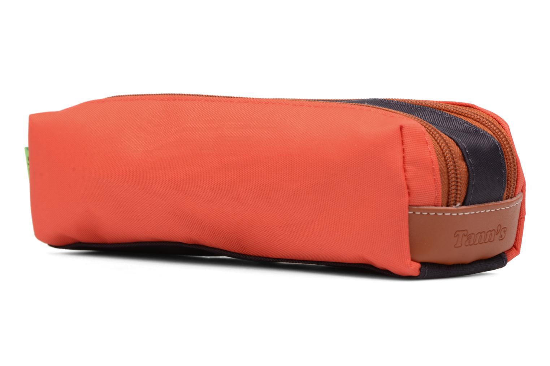 Scolaire Tann's Trousse double Iconic Orange vue portées chaussures