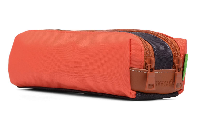 Scolaire Tann's Trousse double Iconic Orange vue droite
