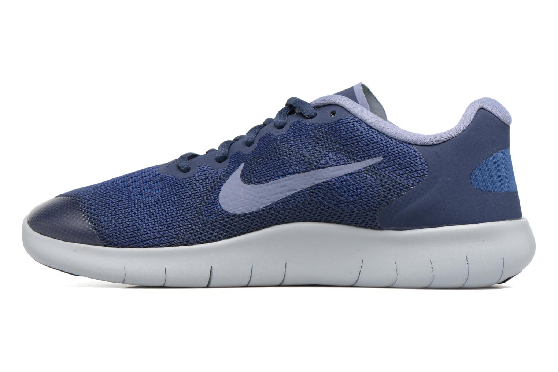 Chaussures de sport Nike Nike Free Rn 2017 (Gs) Bleu vue face