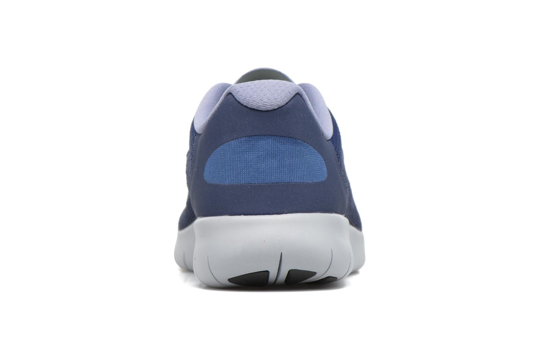 Chaussures de sport Nike Nike Free Rn 2017 (Gs) Bleu vue droite