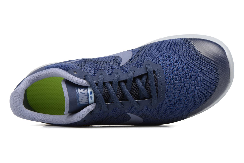 Chaussures de sport Nike Nike Free Rn 2017 (Gs) Bleu vue gauche