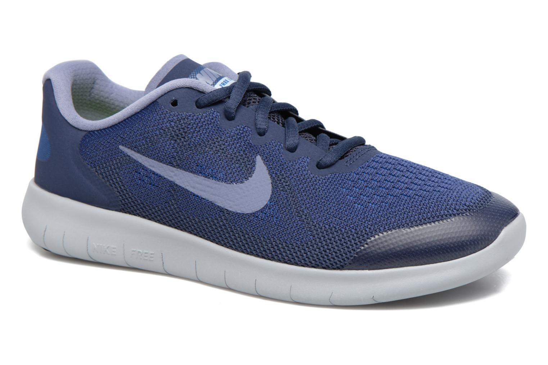 Chaussures de sport Nike Nike Free Rn 2017 (Gs) Bleu vue détail/paire