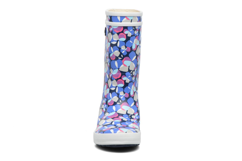 Bottes Aigle Lolly Pop Glit Bleu vue portées chaussures