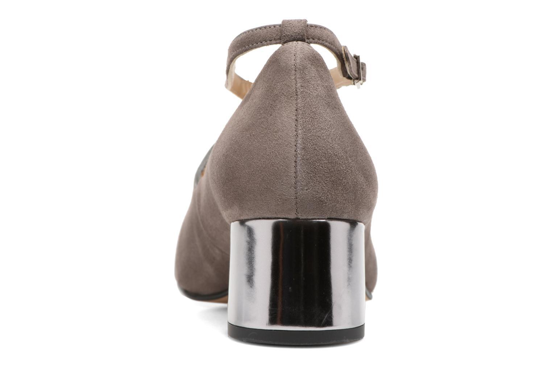 Zapatos de tacón Georgia Rose Sully Gris vista lateral derecha