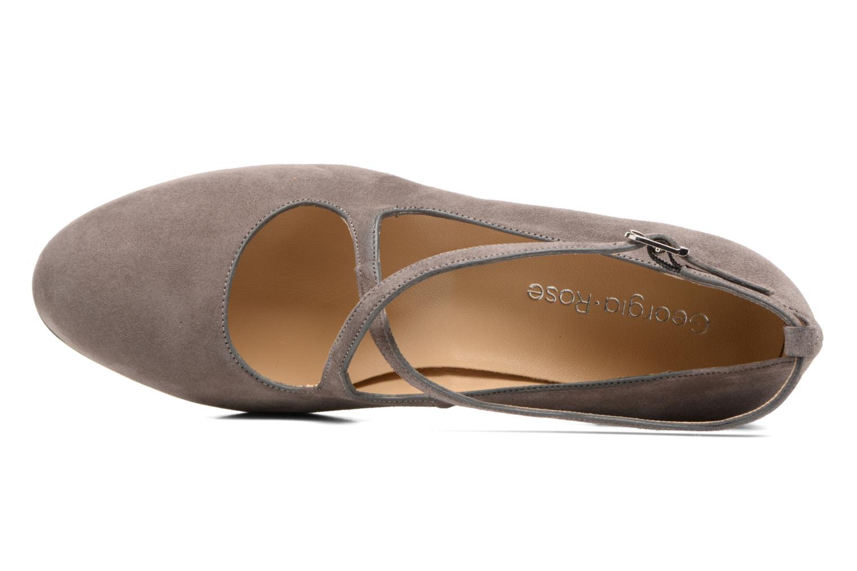 Zapatos de tacón Georgia Rose Sully Gris vista lateral izquierda
