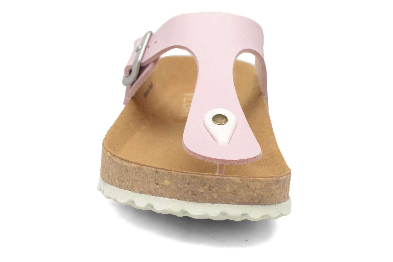 Sandales et nu-pieds El Naturalista Waraji NE59 Rose vue portées chaussures