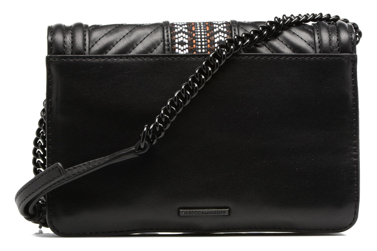 Sacs à main Rebecca Minkoff Jacquard Small Love Crossbody Noir vue face