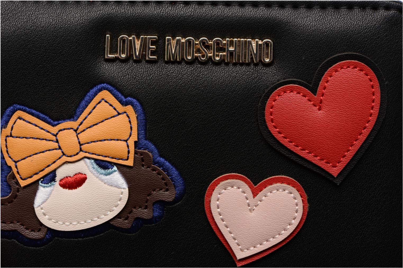 Petite Maroquinerie Love Moschino Portefeuille Girls & Heart Noir vue gauche