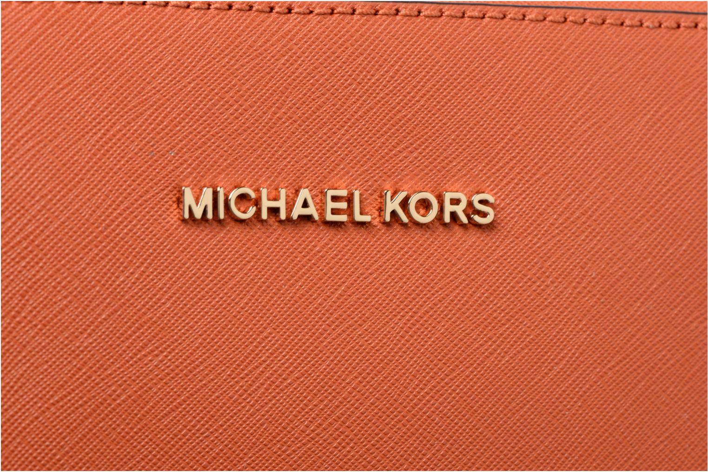 Sacs à main Michael Michael Kors LG EW Crossbody Orange vue gauche