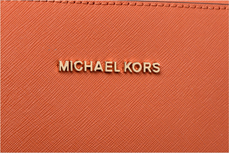 Handtassen Michael Michael Kors LG EW Crossbody Oranje links