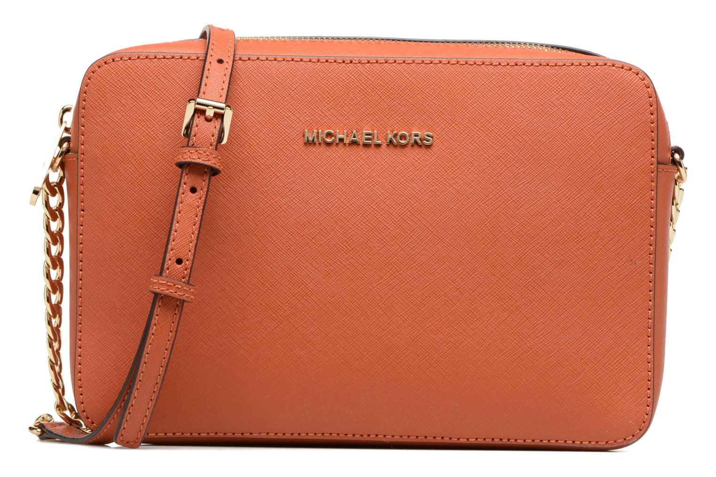 Handtassen Michael Michael Kors LG EW Crossbody Oranje detail