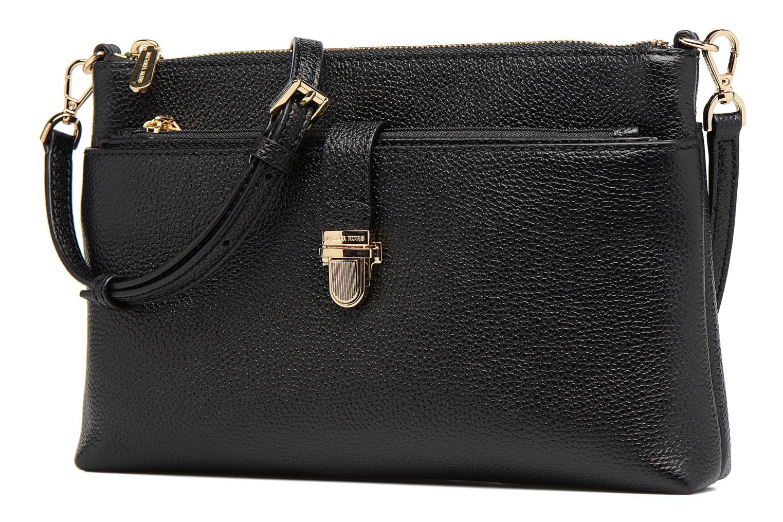Bolsos de mano Michael Michael Kors LG Snap Pocket X body Negro vista del modelo