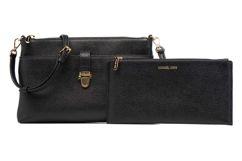 Bolsos de mano Michael Michael Kors LG Snap Pocket X body Negro vista lateral izquierda