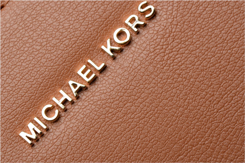 Sacs à main Michael Michael Kors Sutton LG Gusset Satchel Marron vue gauche