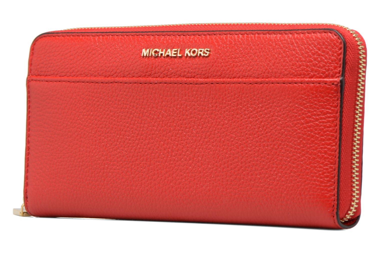 Petite Maroquinerie Michael Michael Kors Mercer Pocket ZA Continental Rouge vue portées chaussures