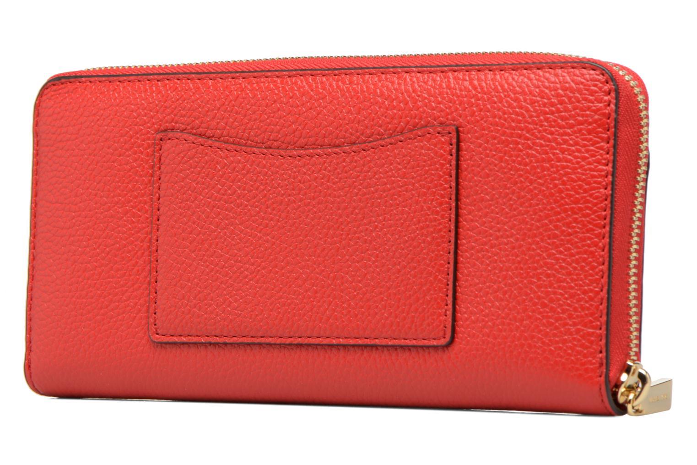 Petite Maroquinerie Michael Michael Kors Mercer Pocket ZA Continental Rouge vue droite