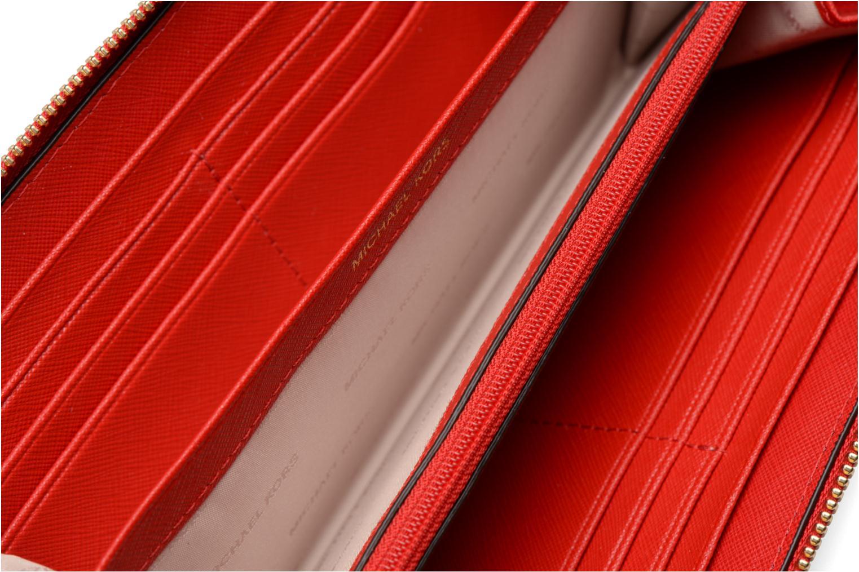 Kleine lederwaren Michael Michael Kors Mercer Pocket ZA Continental Rood achterkant