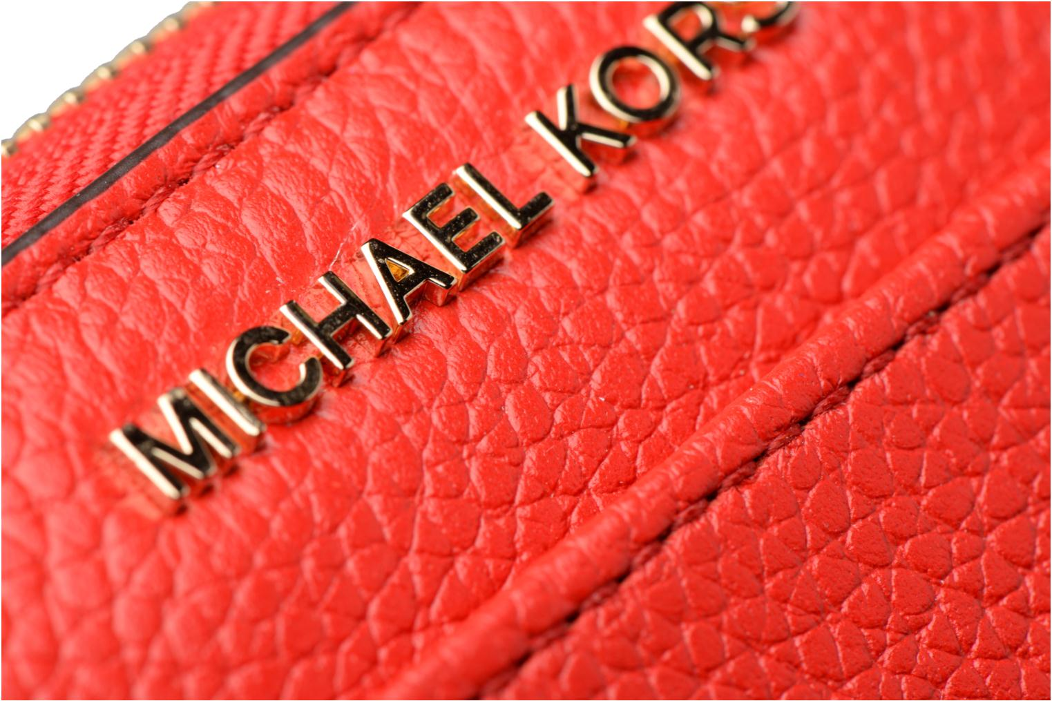 Kleine lederwaren Michael Michael Kors Mercer Pocket ZA Continental Rood links
