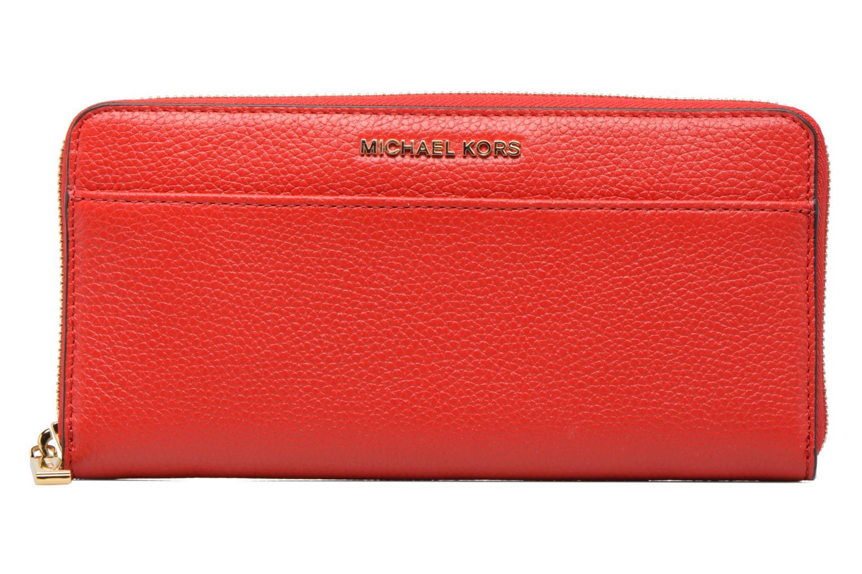 Petite Maroquinerie Michael Michael Kors Mercer Pocket ZA Continental Rouge vue détail/paire