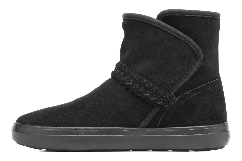 Bottines et boots Crocs Lodge Point Suede Bootie W Noir vue face