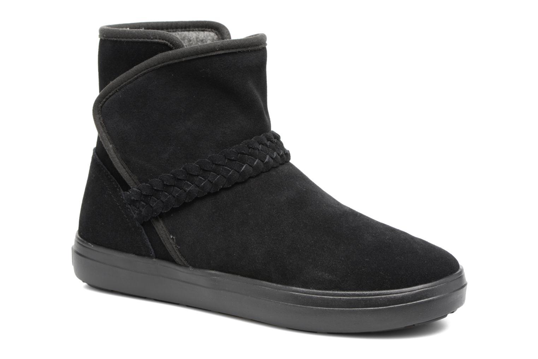 Bottines et boots Crocs Lodge Point Suede Bootie W Noir vue détail/paire