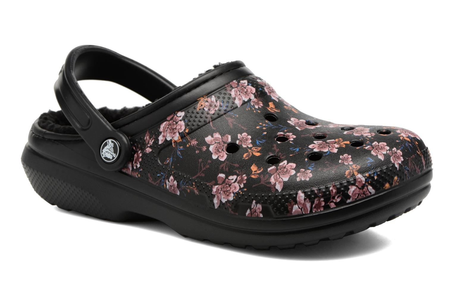 Classic Lined Graphic Clog Black/black