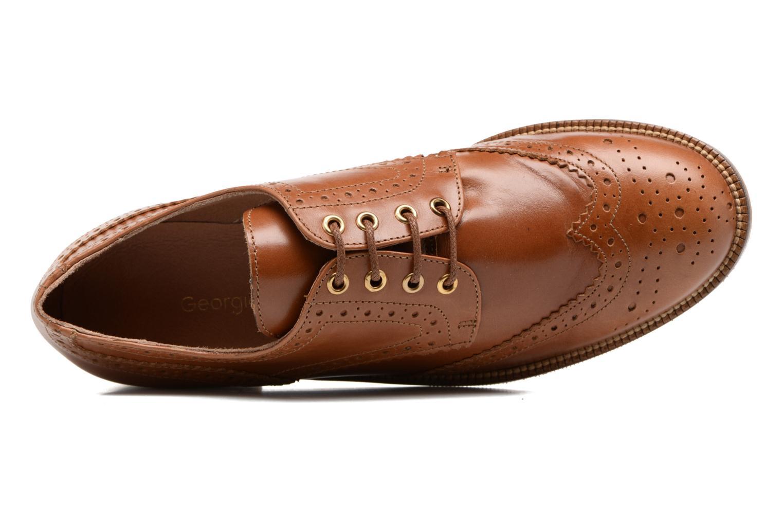 Chaussures à lacets Georgia Rose EMY Marron vue gauche