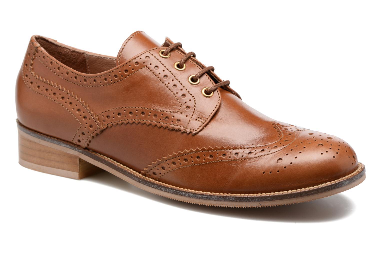 Chaussures à lacets Georgia Rose EMY Marron vue détail/paire