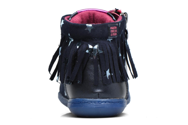 Baskets Agatha Ruiz de la Prada Clever Mid 3 Bleu vue droite