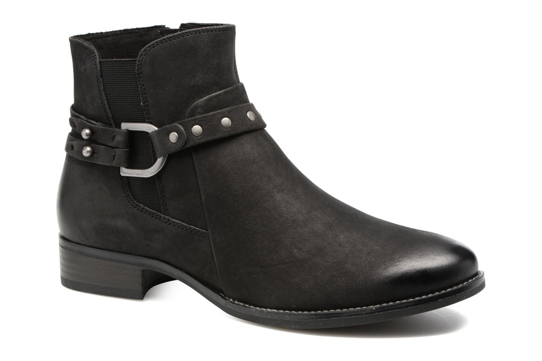 Marques Chaussure femme Caprice femme Kapria Black/ Black Nubuc