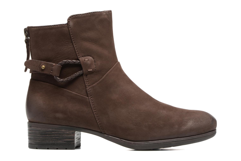 Boots en enkellaarsjes Caprice Dusty Bruin achterkant