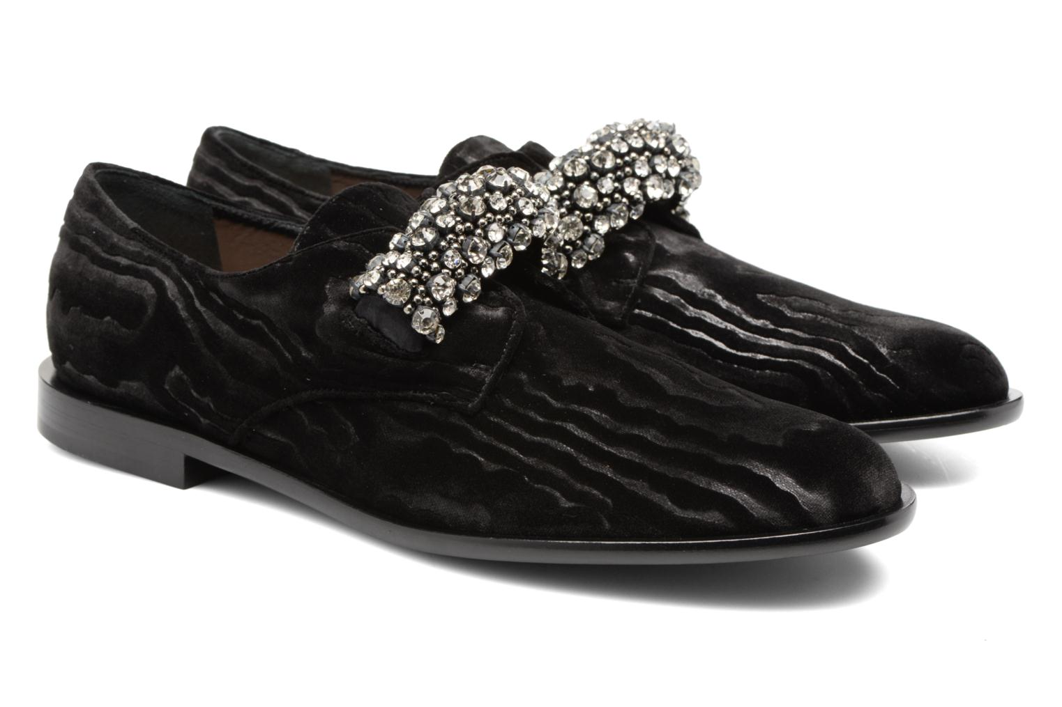 Mocasines Carven Sully Negro vista 3/4