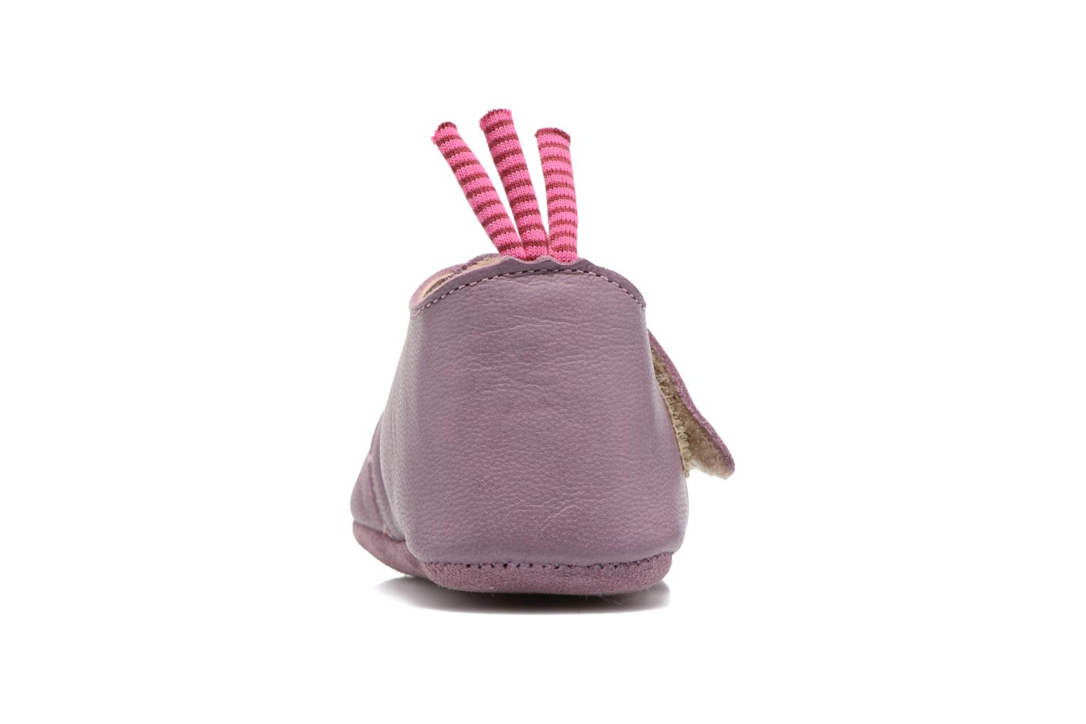 Chaussons Babybotte Souris - Moulin Roty Violet vue droite