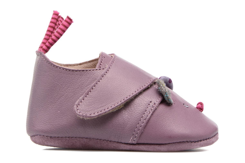 Chaussons Babybotte Souris - Moulin Roty Violet vue derrière